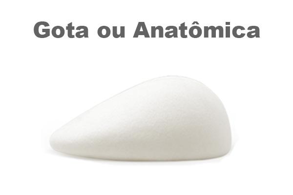 protese gota ou anatômica